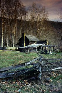 Log Homestead by Paul Segsworth