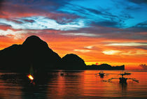 Sunset in El Nido, Palawan, Philippines by Rhine Bernardino