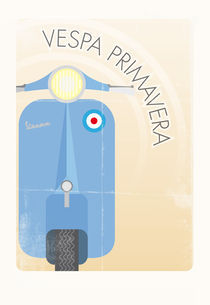 Vespa Primavera in blue by Pelle Eriksson