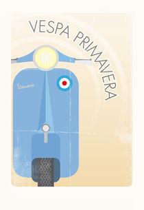 Vespa Primavera in blue von Pelle Eriksson