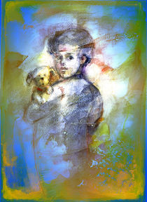 Boy with dog. by natogomes