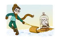 Potter sleigh ride by Tanya Lyon