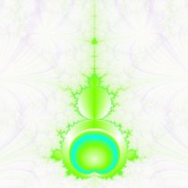Mandelbrot in Green and Blue von objowl