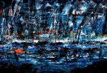 NIGHT IN THE MARINA von Darlene Garr