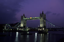Tower Bridge at Night by Wolfgang Kaehler