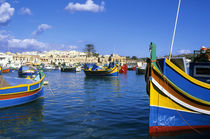 Port with Colorful Fishing Boats by Wolfgang Kaehler