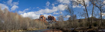 Panoramic View of Cathedral Mountain with Oak Creek by Wolfgang Kaehler