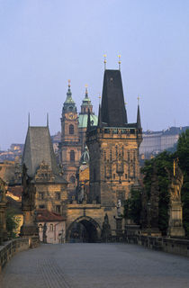 Mala Strana Bridge Towers by Wolfgang Kaehler