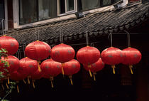 Red Chinese Lanterns by Wolfgang Kaehler