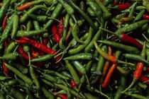 Market Scene with Chile Peppers by Wolfgang Kaehler