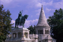 Fishermen'S Bastion with St. Stephen'S Statue by Wolfgang Kaehler
