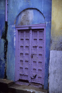 Medina (Old Town) Colorful Painted Door by Wolfgang Kaehler