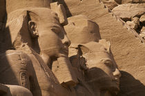 Side View of Statues of Ramses Ii by Wolfgang Kaehler