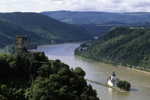 Pfalzgrafenstein Castle on Island and Gutenfels Castle von Wolfgang Kaehler