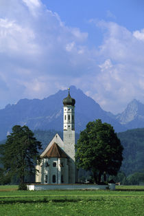 Alp Mountains In Background by Wolfgang Kaehler