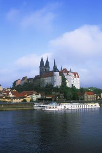 View of Albrechtsburg Castle and Meissen'S Gothic Cathedral by Wolfgang Kaehler