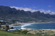 Camps Bay with 12 Apostles Mountains In Background by Wolfgang Kaehler