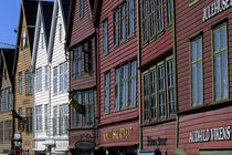 Bryggen District with Historic Wooden Houses From Hanseatic Period by Wolfgang Kaehler