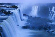 Iguassu Falls at Devils Throat at Dawn by Wolfgang Kaehler