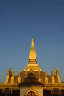 That Luang Stupa In Evening Light by Wolfgang Kaehler