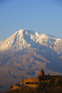 View of Khor Virab Monastery with Mt. Ararat by Wolfgang Kaehler