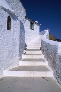 Whitewashed Houses and Steps by Wolfgang Kaehler