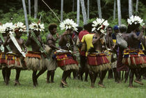 Kaibola Village Traditional Men'S Dances by Wolfgang Kaehler