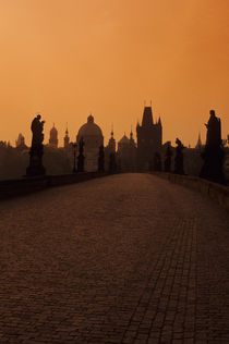 Charles Bridge at Dawn with Old Town Bridge Tower by Wolfgang Kaehler