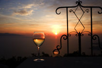 Wine Glass In Sunset by Wolfgang Kaehler