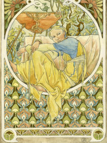 hommage to Mucha by Eléonore Ware