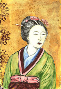 Japanese Woman von Pegeen Shean