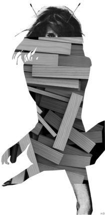 WoodCut Jane Fonda Collage by Marko Köppe