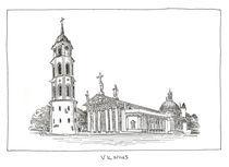 Vilnius' Cathedral by Raimondas Žukauskas