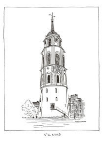 Cathedral's Belfry by Raimondas Žukauskas