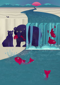 Bears fishing by Fish Foot