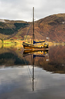 Boat Reflections in Loch Leven by Jacqi Elmslie