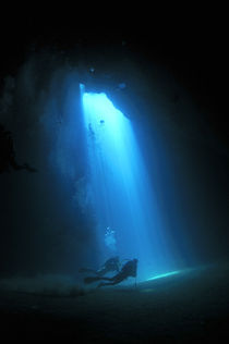 Cave diving by martino motti