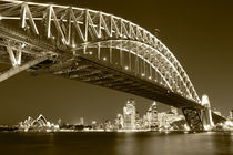 Sydney Harbour Bridge and Opera House von Mark Lucock