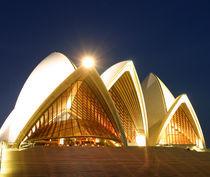 Sydney Opera House Illuminated at Night by Mark Lucock