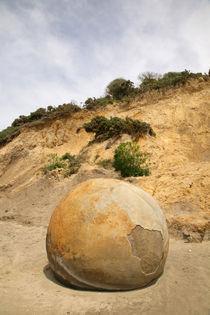 Moeraki Boulders by Mark Lucock