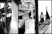 Venice- Gondola, Gondolier & Detail by Gautam Tingre