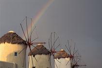 Wind mill with rainbow von Danita Delimont