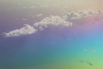 Caribbean: Clouds & Rainbow Colored Water from the Air von Danita Delimont