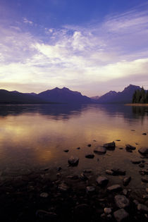 Glacier NP Sunset along Lake McDonald von Danita Delimont