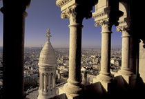 View of Paris through arches from Sacre Coeur Basilica by Danita Delimont