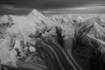 Aerial view of Alaska Range peaks at dusk by Danita Delimont