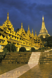 Shwedagon Pagoda at night by Danita Delimont