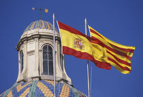 Flags of Spain and Catalonia von Danita Delimont