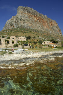 The Rock of Monemvasia set against the clear Aegean Sea by Danita Delimont