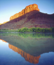 Sunlight on a mesa reflecting in the Colorado River von Danita Delimont